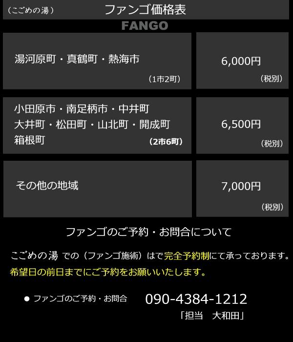 ファンゴ価格表