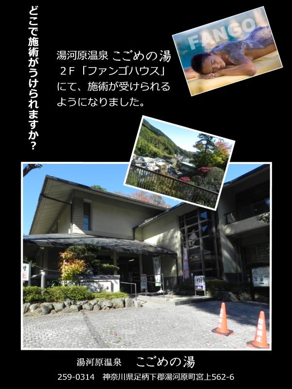 ファンゴの施術場所