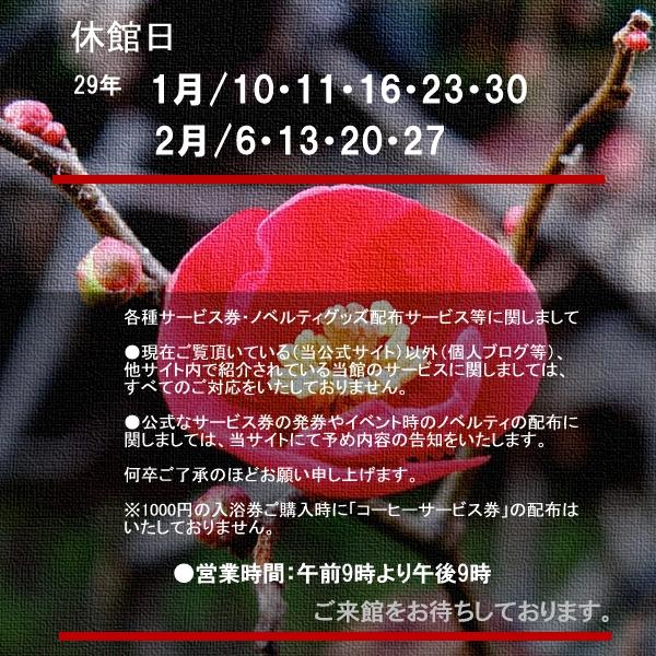 2017休館日・注意事項