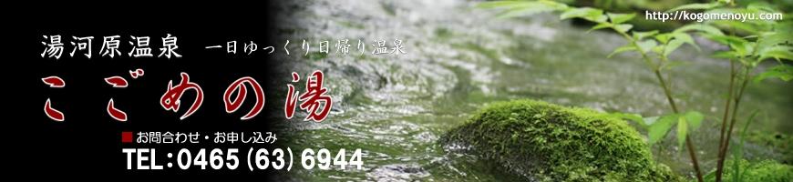 湯河原温泉こごめの湯(公式サイト)一日ゆっくり 日帰り温泉
