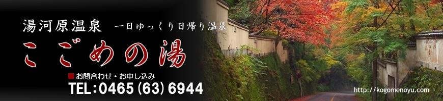 湯河原温泉/一日ゆっくり日帰り温泉「こごめの湯」公式サイト