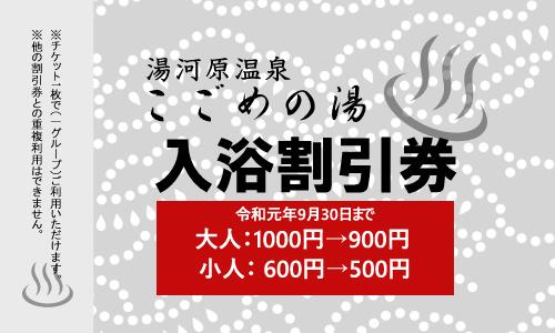 割引チケット(令和元年9月30日まで)